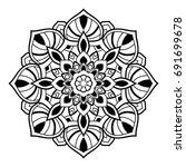 outline mandala for coloring... | Shutterstock .eps vector #691699678