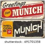 munich germany travel souvenir... | Shutterstock .eps vector #691701358