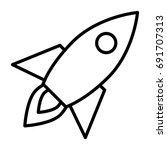 rocket line icon. business... | Shutterstock .eps vector #691707313