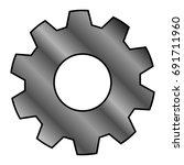 gear icon | Shutterstock .eps vector #691711960