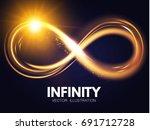 shining infinity symbol.... | Shutterstock .eps vector #691712728
