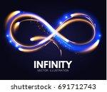 shining infinity symbol.... | Shutterstock .eps vector #691712743