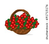 basket of berry with... | Shutterstock .eps vector #691715176