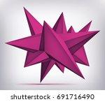 volume geometric shape  3d...   Shutterstock .eps vector #691716490