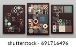vector minimal covers... | Shutterstock .eps vector #691716496