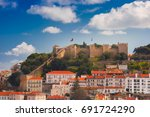 aerial view of castle of saint... | Shutterstock . vector #691724290
