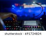 sound technician and lights... | Shutterstock . vector #691724824