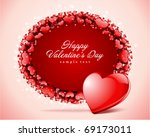 heart with card  frame... | Shutterstock .eps vector #69173011