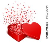 heart gift present with fly... | Shutterstock .eps vector #69173044