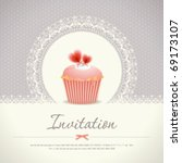 vintage cupcake background 08 | Shutterstock .eps vector #69173107
