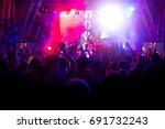 electronic dance music festival | Shutterstock . vector #691732243