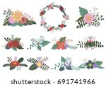 summer flowers | Shutterstock .eps vector #691741966