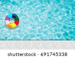 ring pool float  floating in a... | Shutterstock . vector #691745338