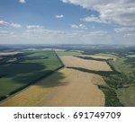 ukraine  kharkov region  aerial ... | Shutterstock . vector #691749709