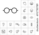 glasses icon on white background   Shutterstock .eps vector #691750789