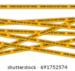 crime scene do not cross yellow ... | Shutterstock .eps vector #691752574