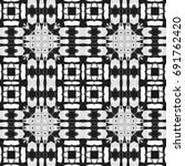 black and white pattern for... | Shutterstock . vector #691762420
