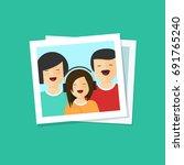 happy family photo illustration ...   Shutterstock . vector #691765240
