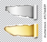set of two vector holes in gold ...   Shutterstock .eps vector #691766839