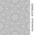 decorative seamless doodle... | Shutterstock .eps vector #691768603