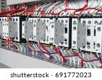 several contactors arranged in... | Shutterstock . vector #691772023