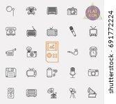 vintage retro line icon set | Shutterstock .eps vector #691772224