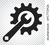 service tools flat vector icon. ... | Shutterstock .eps vector #691772926