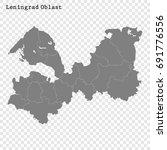 high quality map of leningrad... | Shutterstock .eps vector #691776556