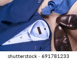 set of classic mens clothes  ... | Shutterstock . vector #691781233