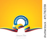 ecuador independence day ribbon ...   Shutterstock .eps vector #691782358