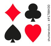 suit of playing cards. vector... | Shutterstock .eps vector #691788430
