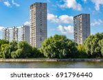 a large multi storey building... | Shutterstock . vector #691796440