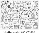 school items | Shutterstock .eps vector #691798498