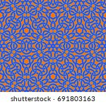 abstract seamless pattern with... | Shutterstock .eps vector #691803163