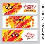 indian religious festival... | Shutterstock .eps vector #691808188