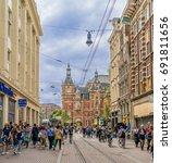 amsterdam  the netherlands ... | Shutterstock . vector #691811656