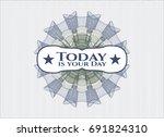 blue and green rosette  money... | Shutterstock .eps vector #691824310