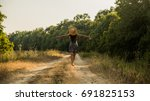 joyful girl  freedom concept | Shutterstock . vector #691825153