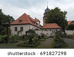 the diepholzer castle with... | Shutterstock . vector #691827298