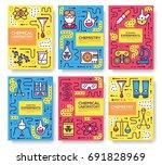 biohazard chemists thin line... | Shutterstock .eps vector #691828969