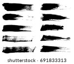 vector collection of artistic... | Shutterstock .eps vector #691833313