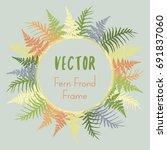 yellow  green  orange and grey... | Shutterstock .eps vector #691837060