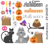 big set with different... | Shutterstock .eps vector #691840870