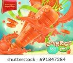 carrot vegetable. healthy food. ... | Shutterstock .eps vector #691847284