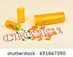 signs and symbols of the opioid ... | Shutterstock . vector #691867390