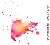 colorful abstract watercolor... | Shutterstock .eps vector #691871794