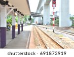 abstract blur and train station ... | Shutterstock . vector #691872919