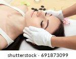 spa woman. beautiful woman... | Shutterstock . vector #691873099