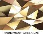 abstract metal background.  3d... | Shutterstock . vector #691878928
