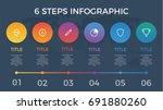 infographic element vector with ... | Shutterstock .eps vector #691880260